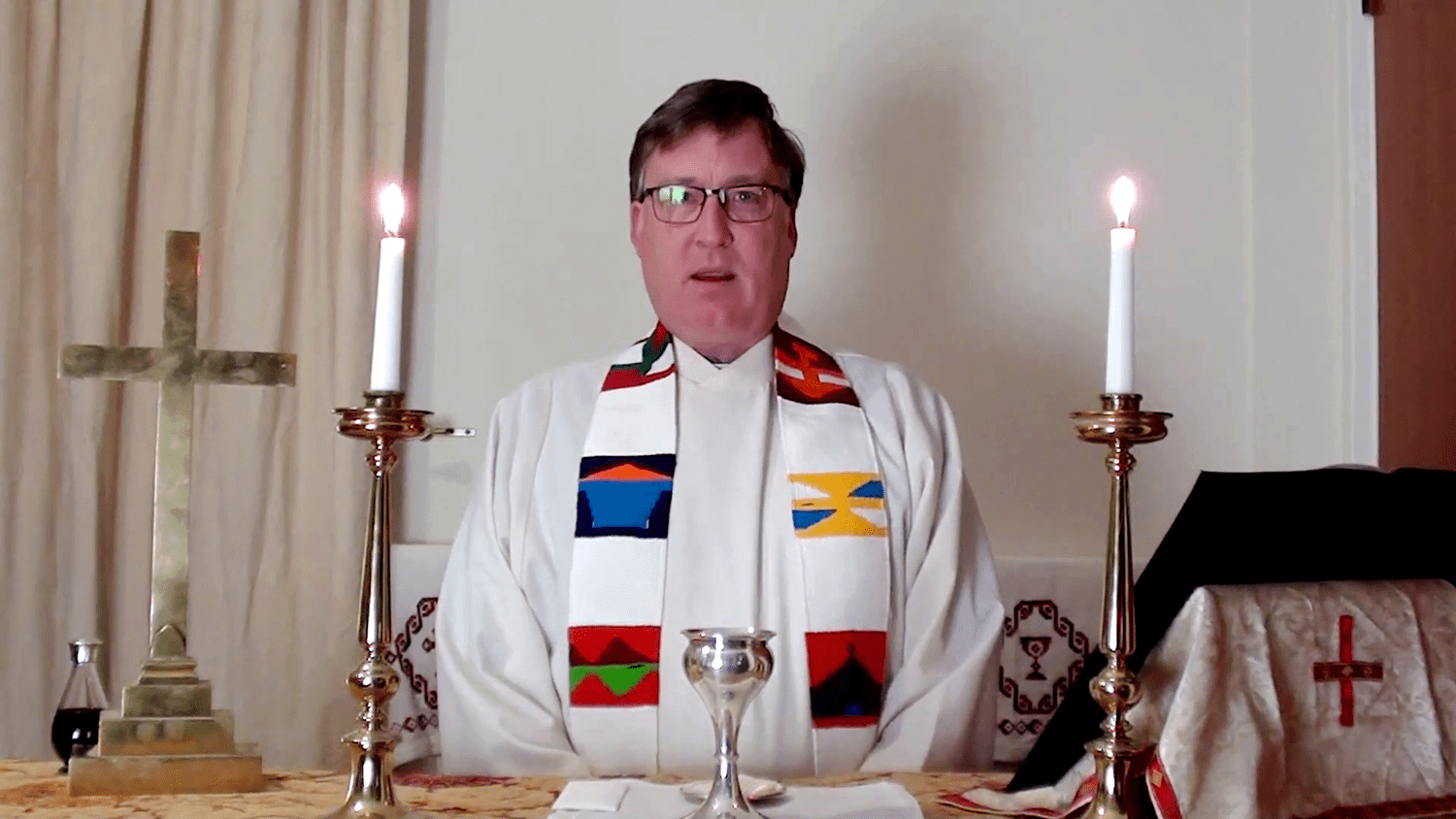 A picture of a United Benefice Zoom Service.