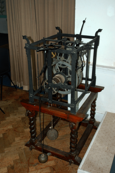 A picture of the clock in St. Peter's Church, Buntingford.