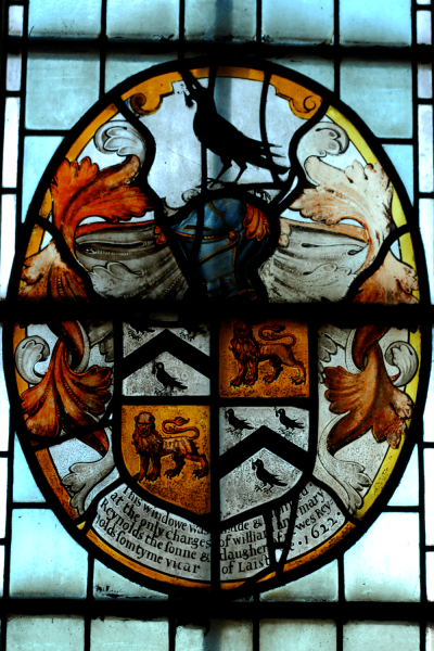 A picture of the Reynolds Coat of Arms in St. Peter's Church, Buntingford.